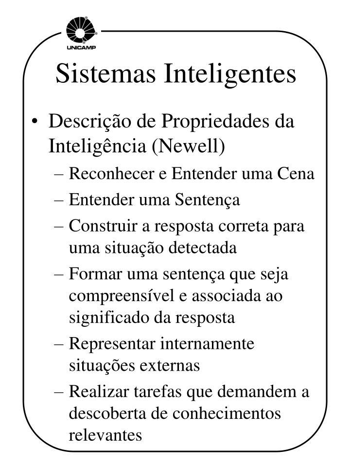 Sistemas Inteligentes