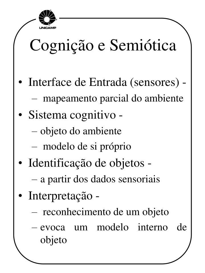 Cognição e Semiótica