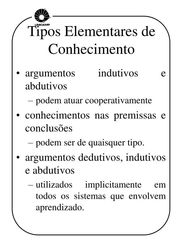 Tipos Elementares de Conhecimento