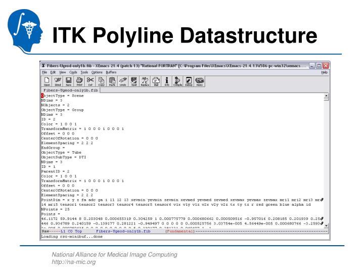 ITK Polyline Datastructure