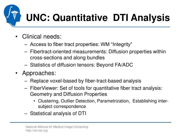 UNC: Quantitative  DTI Analysis