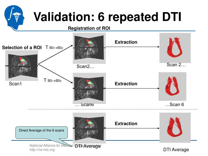 Validation: 6 repeated DTI