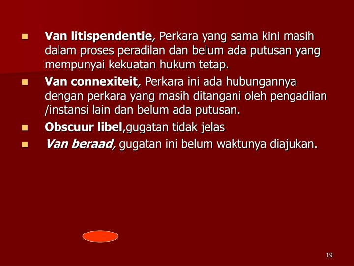 Van litispendentie
