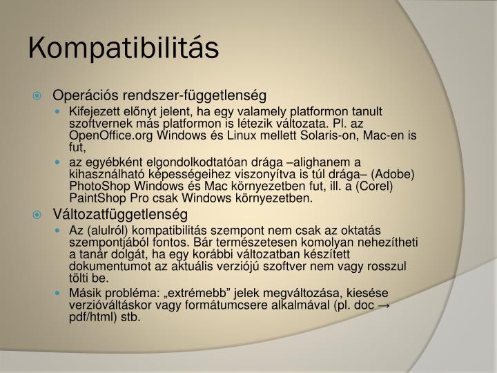 Kompatibilitás