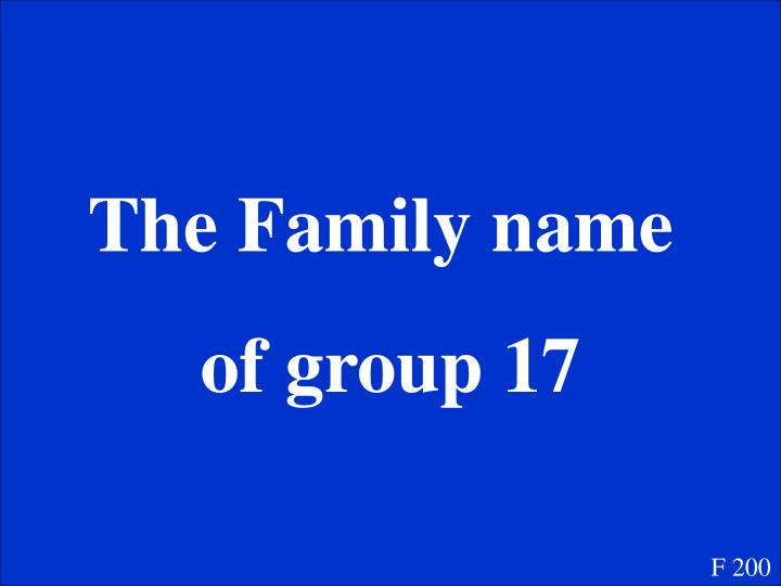 The Family name