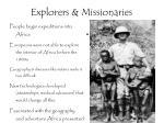 explorers missionaries