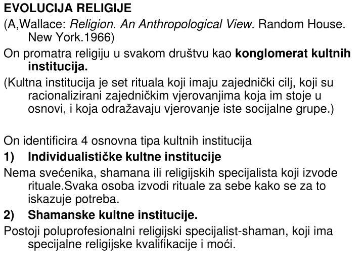 EVOLUCIJA RELIGIJE