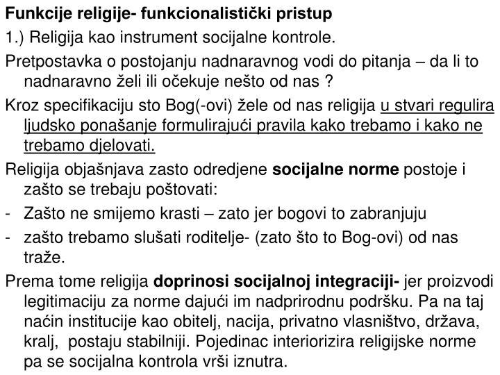 Funkcije religije