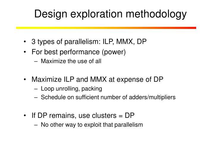 Design exploration methodology