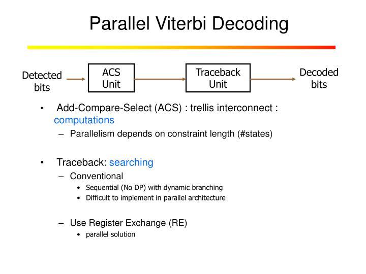 Parallel Viterbi Decoding