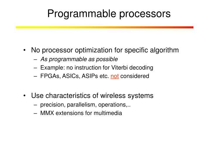 Programmable processors