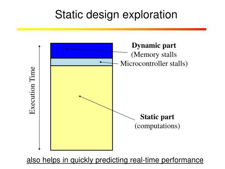 Static design exploration