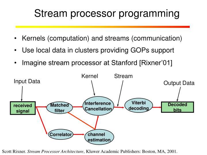 Stream processor programming