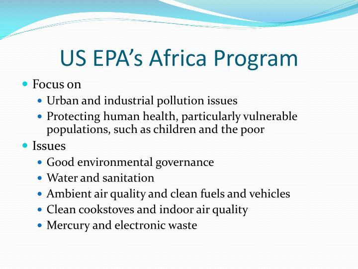 US EPA's Africa Program