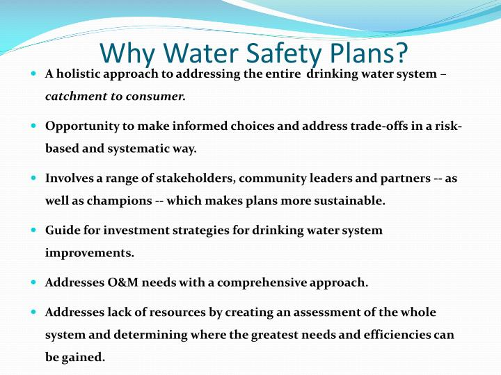 Why Water Safety Plans?