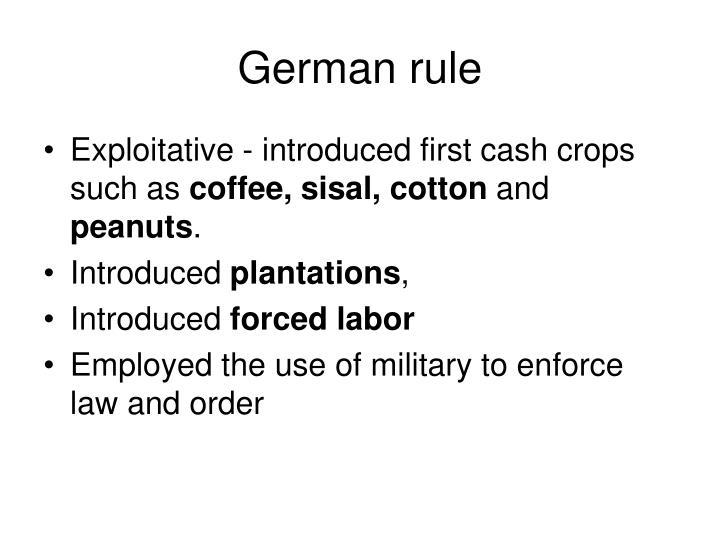 German rule