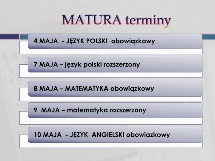 MATURA terminy