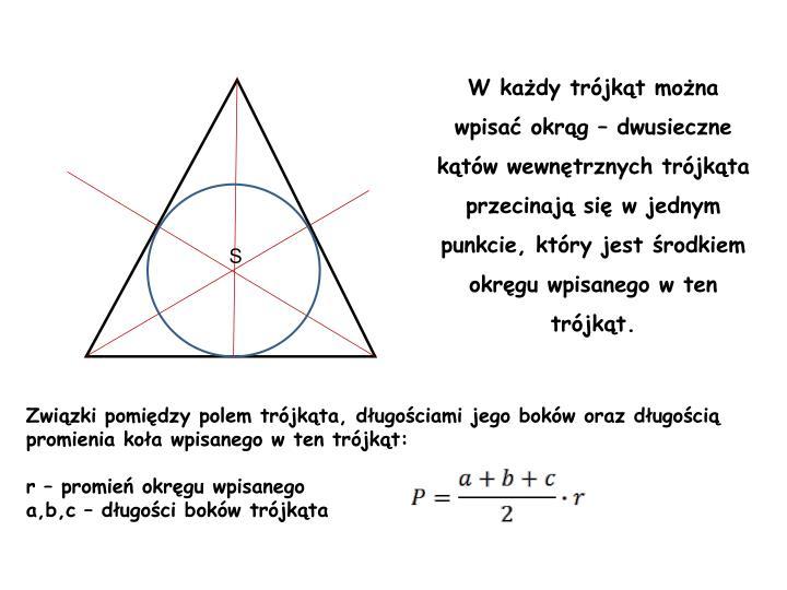 W każdy trójkąt można