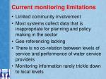 current monitoring limitations