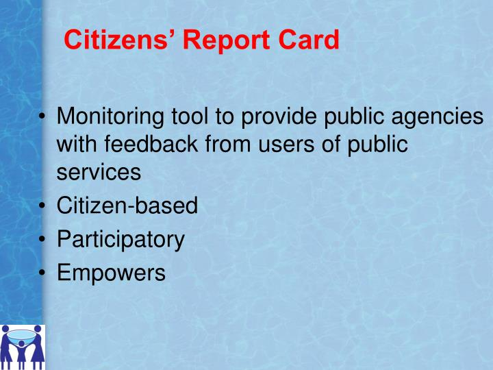 Citizens' Report Card
