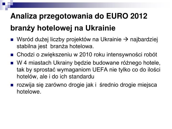 Analiza przegotowania do EURO 2012 branży hotelowej na Ukrainie