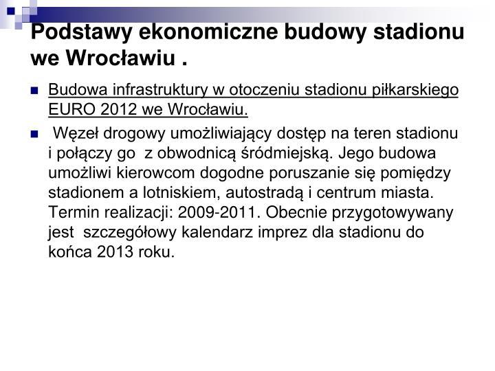 Podstawy ekonomiczne budowy stadionu we Wrocławiu