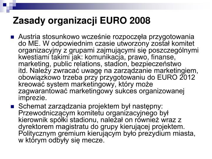 Zasady organizacji EURO 2008