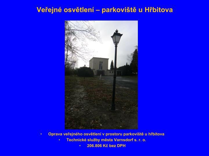 Veřejné osvětlení – parkoviště u Hřbitova