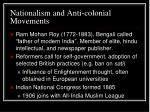nationalism and anti colonial movements