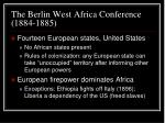 the berlin west africa conference 1884 1885