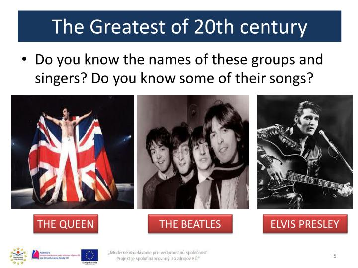 The Greatest of 20th century