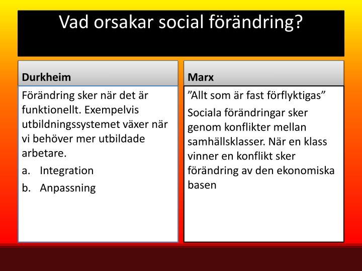 Vad orsakar social förändring?
