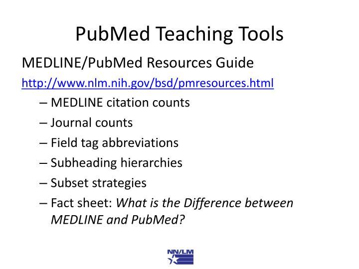PubMed Teaching Tools
