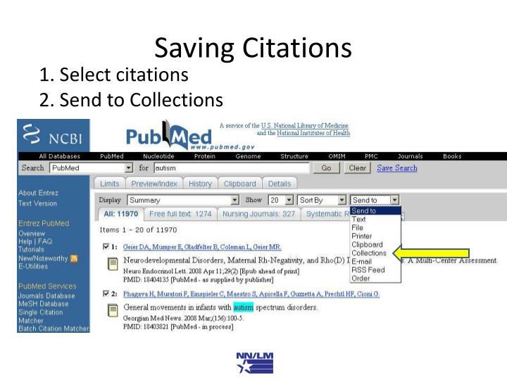 Saving Citations