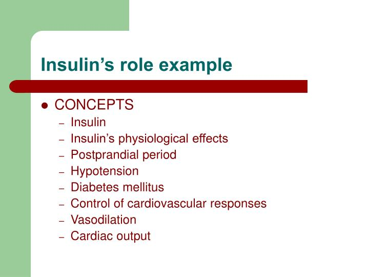 Insulin's role example