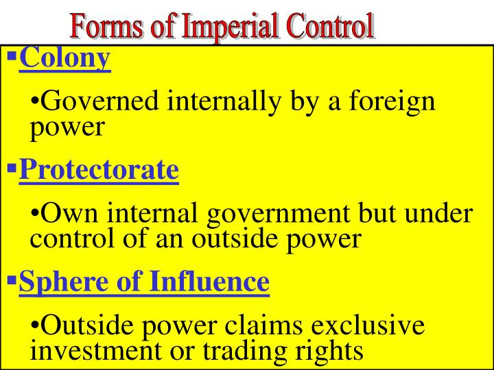 Forms of Imperial Control