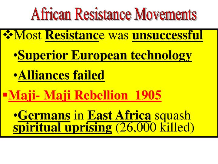 African Resistance Movements