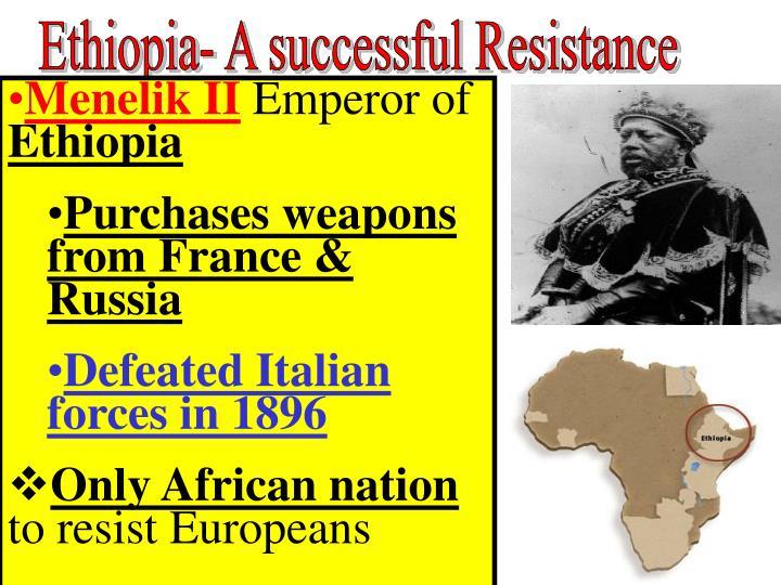 Ethiopia- A successful Resistance