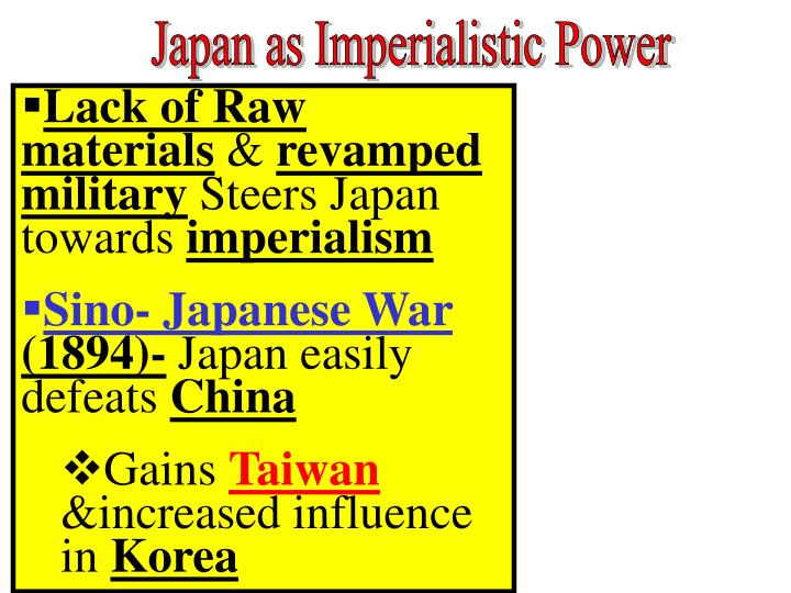 Japan as Imperialistic Power