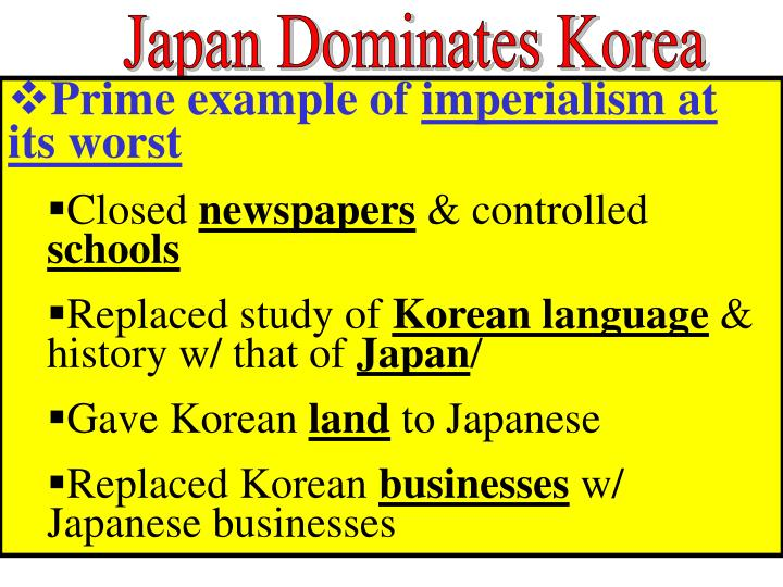 Japan Dominates Korea