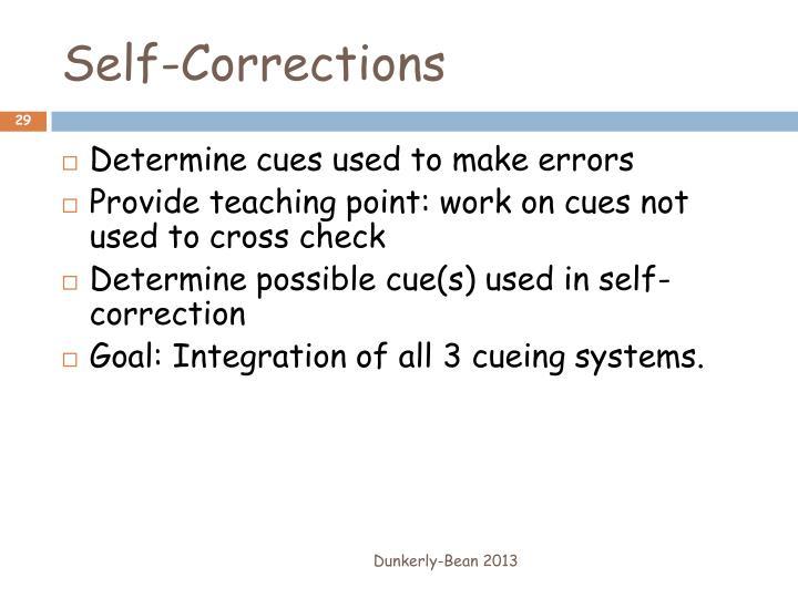 Self-Corrections