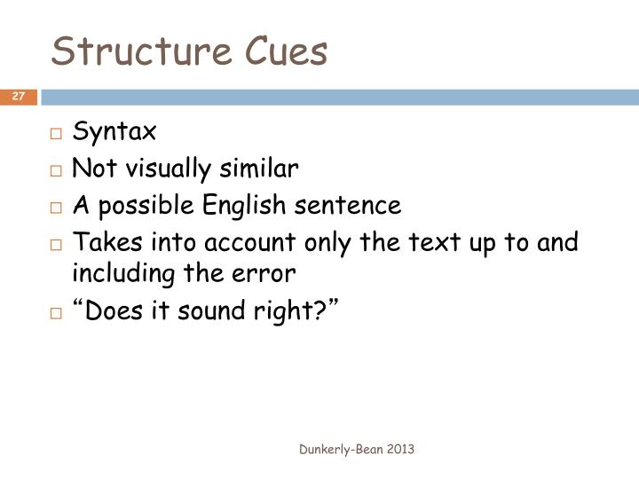 Structure Cues