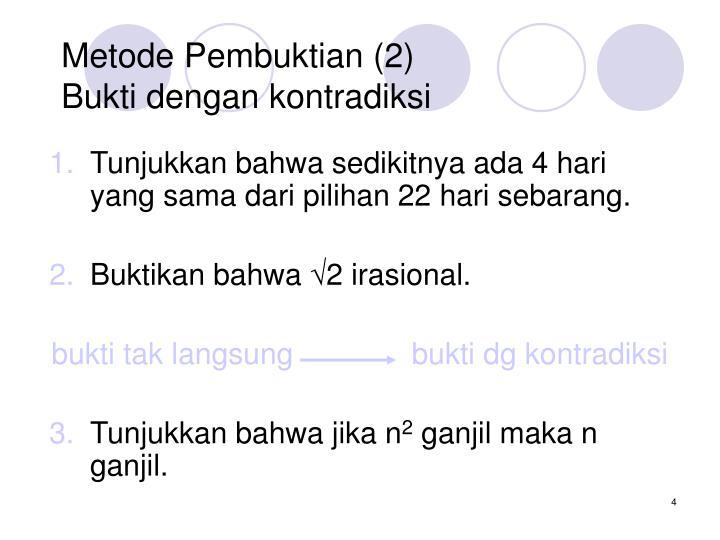 Metode Pembuktian (2)