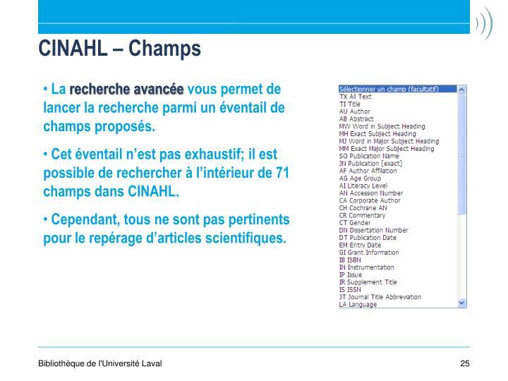 CINAHL – Champs