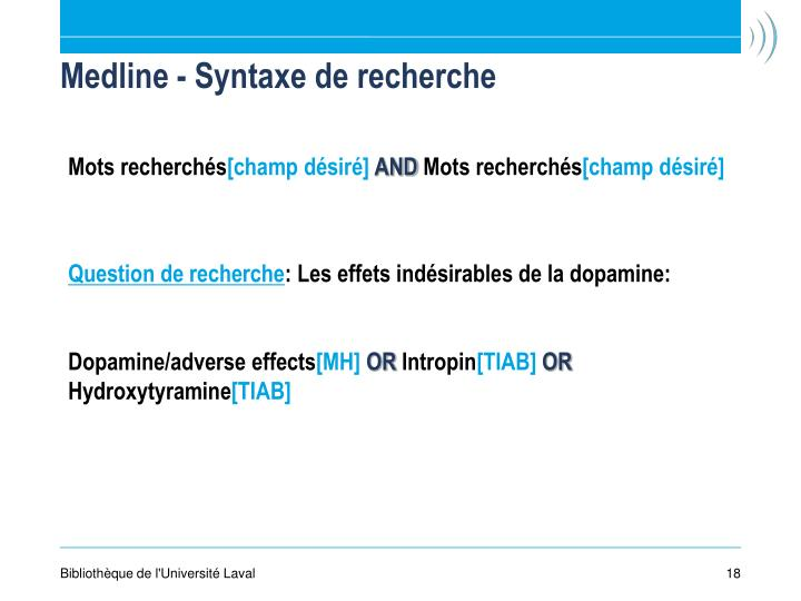 Medline - Syntaxe de recherche