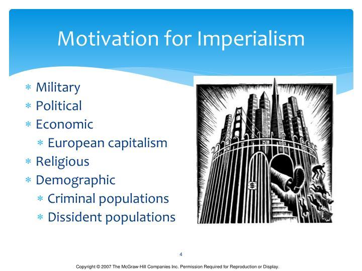 Motivation for Imperialism