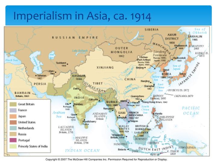 Imperialism in Asia, ca. 1914