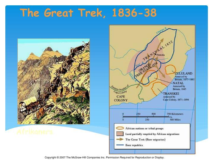 The Great Trek, 1836-38