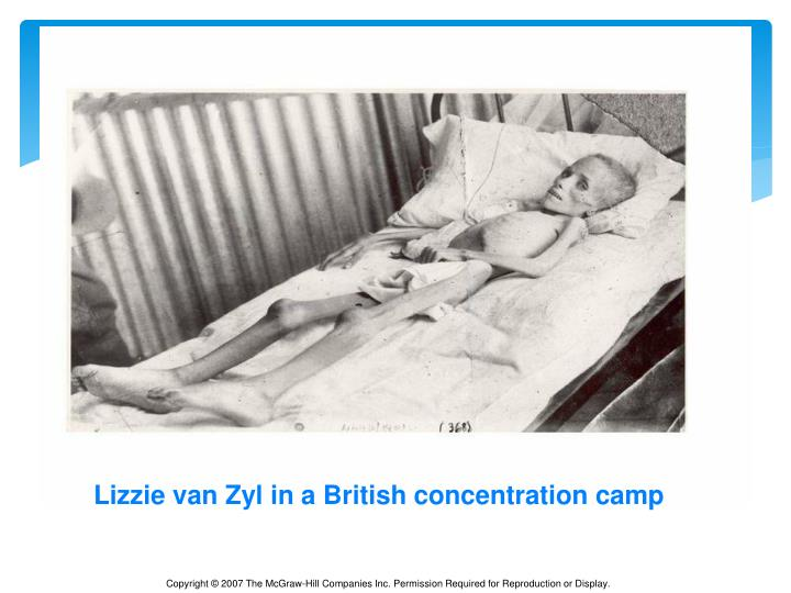 Lizzie van Zyl in a British concentration camp