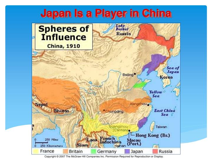 Japan Is a Player in China